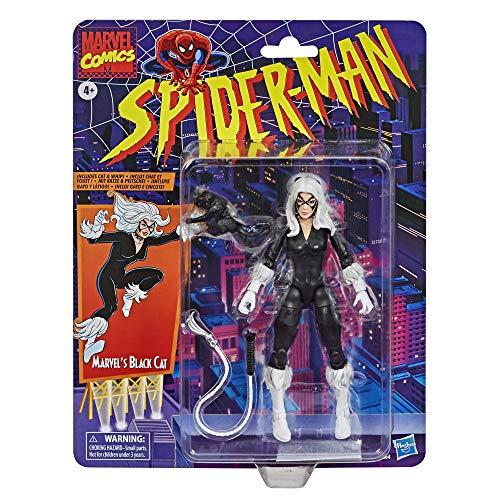 Spider-Man Figura de acción Coleccionable de Gata Negra de 15cm de Hasbro Marvel Legends Series de Vintage Collection
