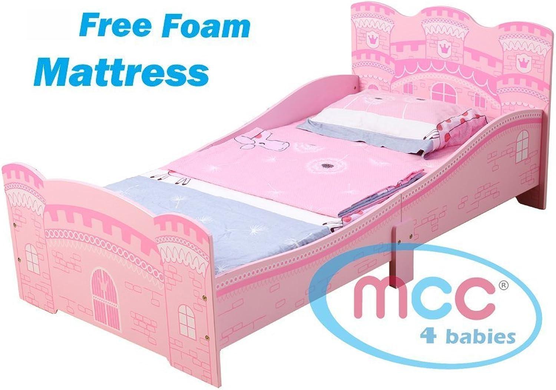 MCC Prinzessinenschloss Burg Kinderbett, stabil und geschmackvoll mit Matratze