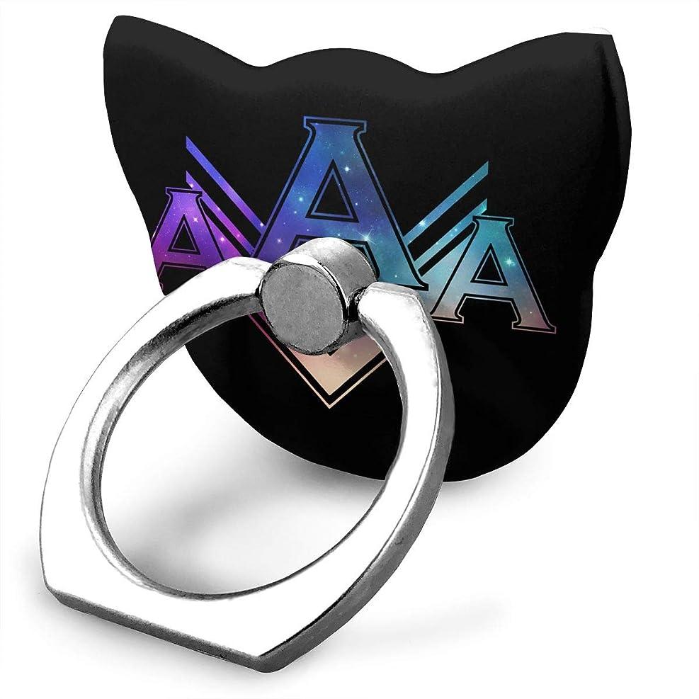 一時解雇する指定する必需品AAA エー カラー 星空 大好き スマホリング 猫耳 ホールド リング 指輪リング 薄型 おしゃれ 落下防止 360° ホルダー 強吸着力 IPhone/Android各種他対応