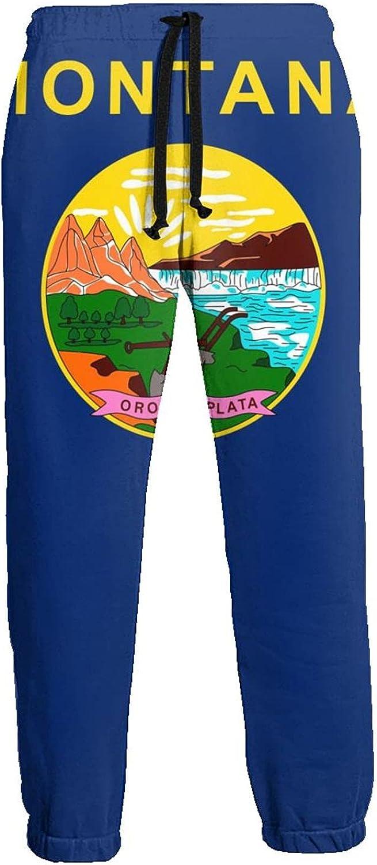 Montana Flag Free Shipping Cheap Bargain Gift Men's Yoga Pants Ru Straight Leg Jogging Popular popular Open
