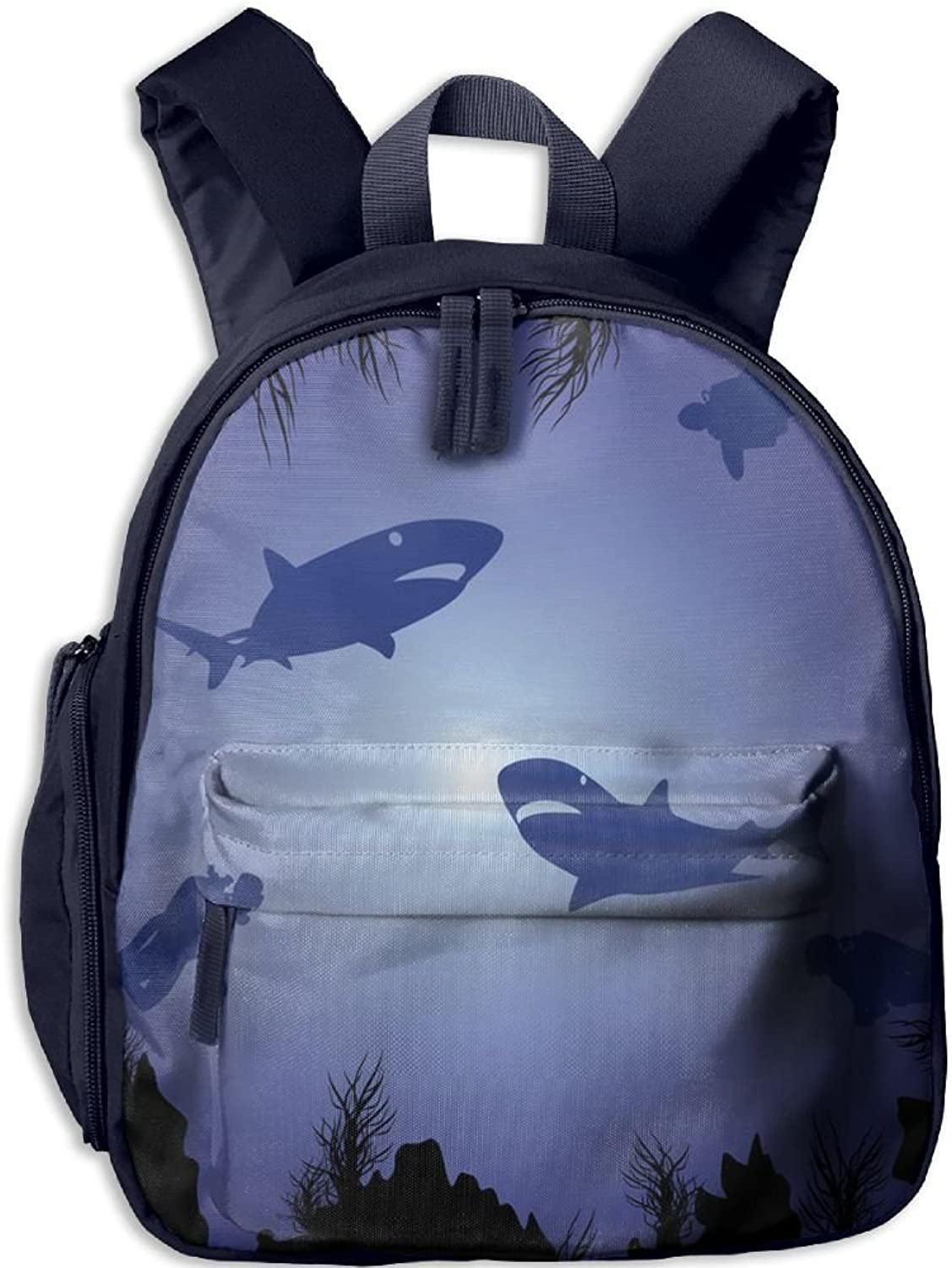 Pinta Sharks and Divers Cub Cool School Book Bag Backpacks for Girl's Boy's
