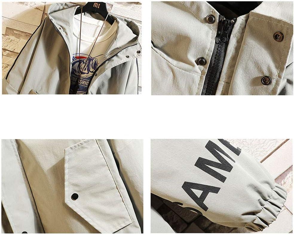 73HA73 Sweat Zippé à Capuche Long Manteaux pour Hommes Fate/Grand Order Ruler Jacket Confortable Sweat Veste Coat (No Shirt) beige