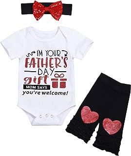 Newborn Baby Girls Clothes Hello World Prints Long Sleeve Romper Bodysuit Outfits Set 4 PCS