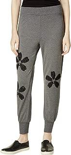 Womens Applique Lace Jogger Pants