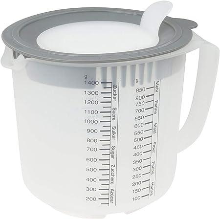 Oetker 1487 Dr Design Messbecher 1 Liter blau Maßbecher Backzubehör