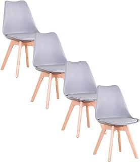 GrandCA Home Lot de 4/6/8 chaises, Chaise de Salle à Manger, Chaise de Style Nordique, Convient pour Salon, Salle à Manger...