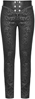 Men's Syndicate Trousers Pants Steampunk Black Brocade Vintage Gothic Victorian