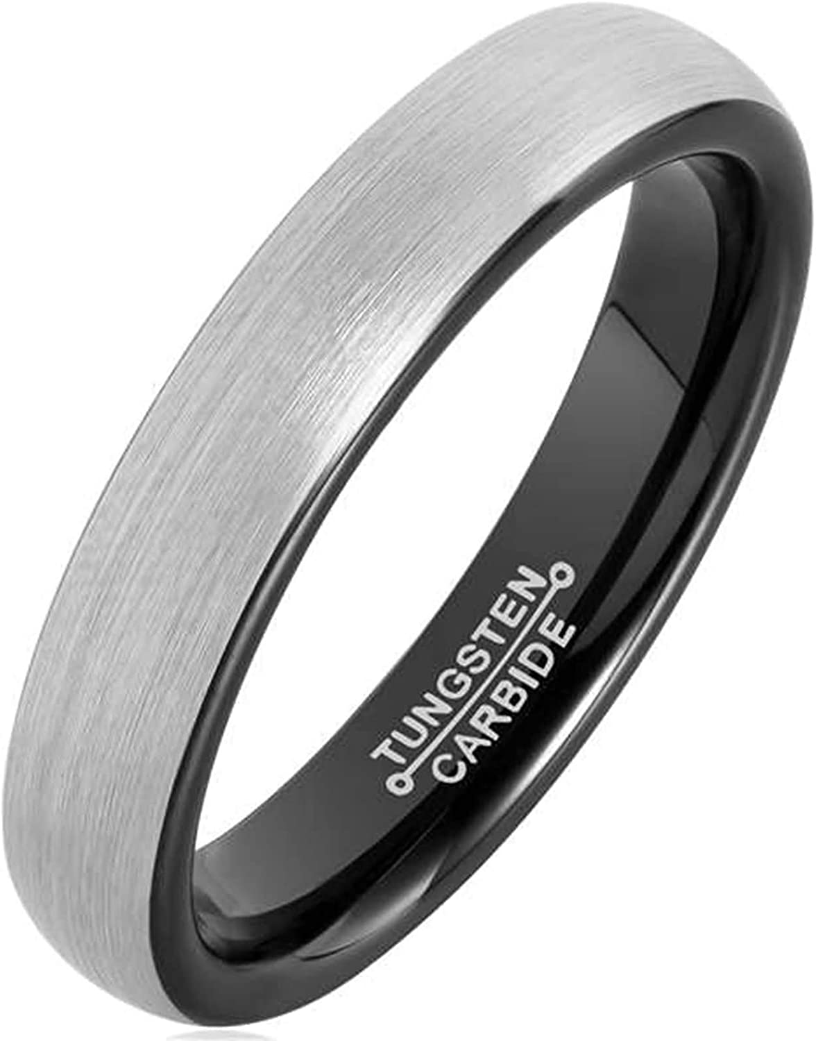 Epinki Tungsten Steel Ring for Silver discount Wedding Men Brushed Bands Now on sale