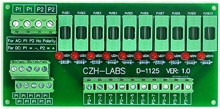 Electronics-Salon Panel Mount 10 Position Power Distribution Fuse Module Board, for AC230V
