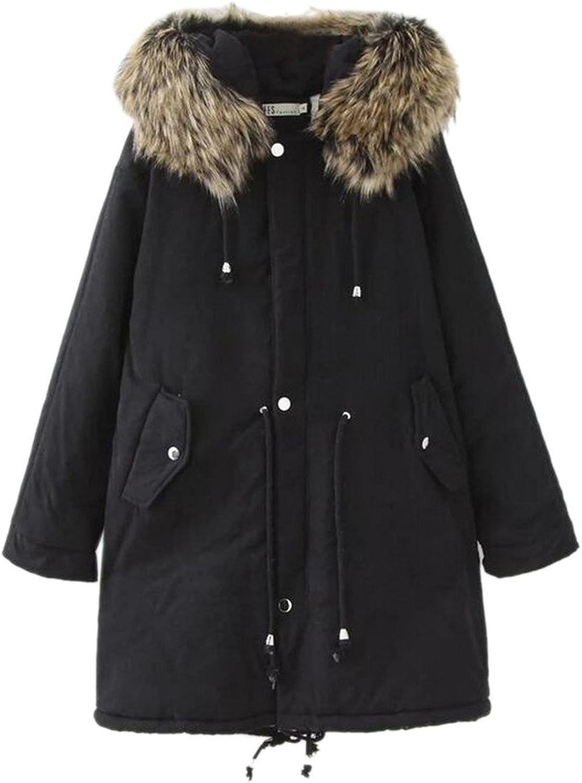 GAGA Womens Plus Size Safari Casual Hooded Military Parka Jacket Coats
