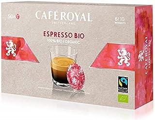 Café Royal Espresso Bio 50 Nespresso (R)*Business Solutions (R)* Coffee Pads - Bio & Organic - Compatible Capsules for The Nespresso (R)*Business Solutions (R)* System - Intensity 6/10