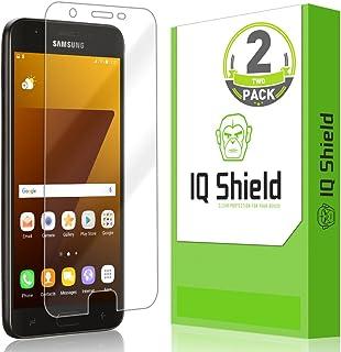 IQ Shield Screen Protector Compatible with Samsung Galaxy J7 Top (J7 Crown, Refine, Eon, Star, Aura, Aero, 2018) LiquidSkin Anti-Bubble Clear Film