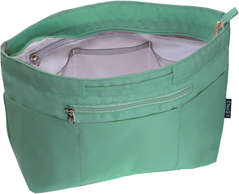 C two Q バッグインバッグ インナーバッグ 軽量 自立 大容量 収納 バッグ エメラルドグリーン