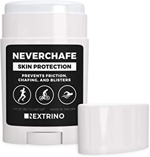 Nextrino NeverChafe Anti Chafe Stick - Prevents Friction and Chafing on Thighs & Body - Glides on Smooth, Waterproof for Running & Swimming