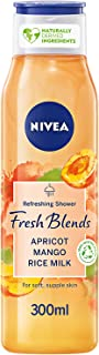 NIVEA Fresh Blends Refreshing Shower Gel, Apricot Mango Rice Milk, 300ml, 89714