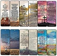 Spanish Bookmarks - Popular Inspirational Bible Verses (12-Pack)- Stocking Stuffers for Men Women Teens Kids - Devocionales Cristianos en Español Gift Idea for Thanksgiving Christmas Baptism Birthday