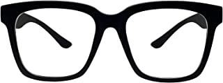 Retro Nerd Geek Oversized Eye Glasses Horn Rim Framed...