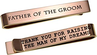 Father of The Bride Gifts Father of The Groom Gifts Wedding Tie Clips Gifts for Groomsmen from The Bride Stainless Steel Tie Bars