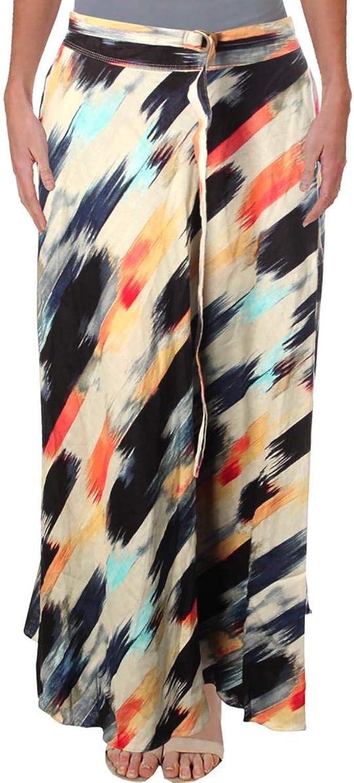 DKNY Womens Linen Casual Midi Skirt