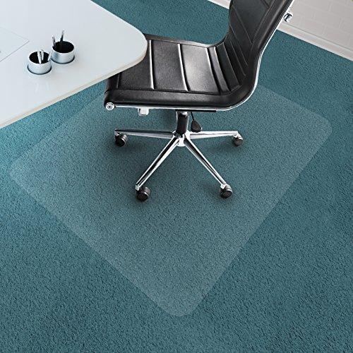 "Office Marshal Chair Mat for Carpet Floors, PVC, Low/Medium Pile - 30"" x 48"", Multiple Sizes - Clear, Studded, Rectangular Carpet Floor Protection Mat"