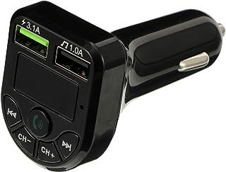 Wakauto Transmissor FM sem fio adaptador de rádio para carro, receptor de MP3 Player de carro, duas portas USB, carregador...