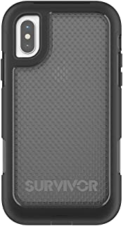 Griffin Survivor Extreme iPhone X Rugged Case - Impact Resistant Case with Holster, Black Tint