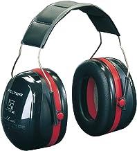 3M H540A-411-SV Peltor Optime III - Cuffie Protettive Temporale, 35 dB, Nero/Rosso