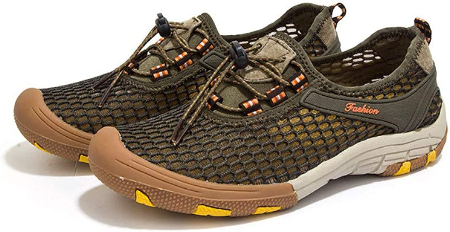Lucdespo Men's Wading shoes Air-permeable Mesh for Summer Fast-drying Mountaineering Hiking and Stream-tracing shoes