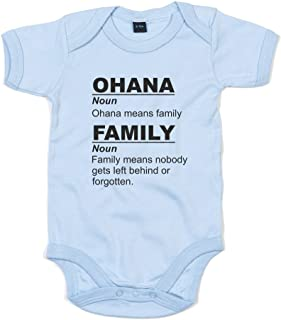 Brand88 - Ohana Means Family, Printed Baby Grow