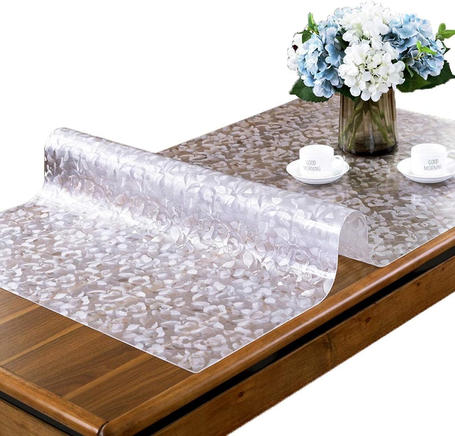 Nappe Imperméable Rectangulaire PVC Imperméable Imprimé Anti-Tache Entrecravaten Facile Prougeège Table Meuble Pour Cuisine Restaurant Résistant SYHZHY (Taille   85  145cm)