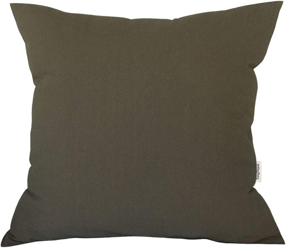 TangDepot Decorative Handmade Solid Cotton Throw Pillow Covers,