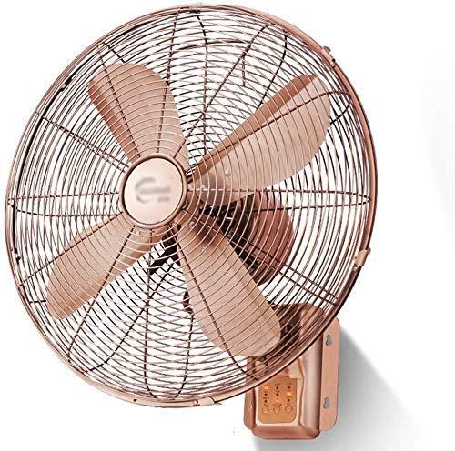 GTRHE Oszillant ventilator met timer, retro, 16 inch, antiek, wandventilator, gemonteerd met afstandsbediening