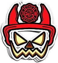 Lucky Star 3 PCs Stickers Halloween Pumpkin Firefighter Helmet Funny Dad Husband 4 × 3 Inch Die-Cut Wall Decals for Laptop Window