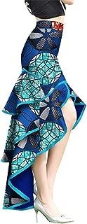 African Print Ankara Mermaid Skirt Long Customized Unique Ankara Ruffles Skirt