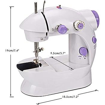 TopDiscover - Máquina de coser. Mini máquina de coser portátil de ...