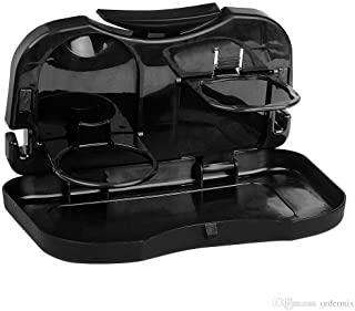 Trade B Auto Multifunction Folding Car Back Seat Table Drink Food Cup Tablet Tray Holder (Black)