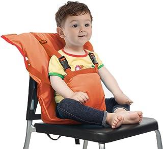 Trona de Viaje para Bebé Silla alta Bebe Portatil Arnés de Seguridad Infantil Saco Correa,Naranja