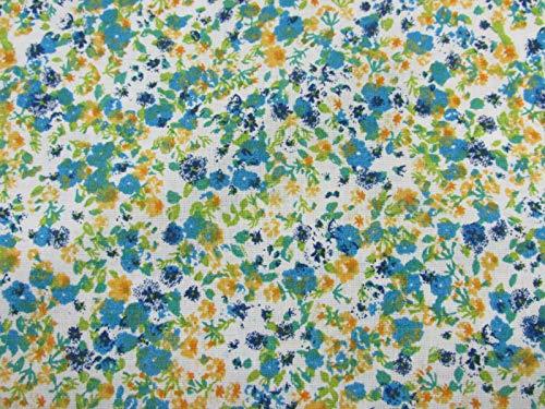 Confección Saymi Tela Liberty Floral 100% algodón Estampado 2,45 MTS Ref. Iris Mostaza, Doble Ancho 2,80 MTS.