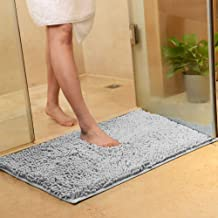 L Size Luxury Chenille Bathroom Rug Mat, Non-slip Extra Soft and Absorbent Shaggy Rugs, Machine Wash Dry, Perfect Plush Ca...