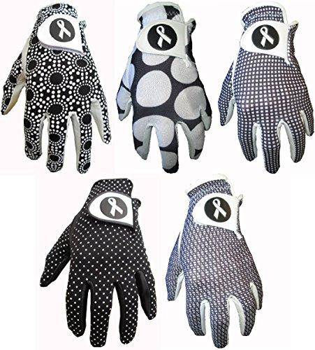 5Damen schwarz Designs Cabretta-Leder Golf Handschuhe Gator