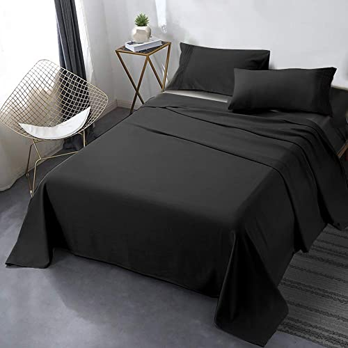 """popular Secura Everyday Luxury Queen Bed Sheet Set 4 Piece - Soft Microfiber 1800 Thread Count 16"""" Deep Pocket Sheet high quality Sets wholesale - Hypoallergenic, Wrinkle & Fade Resistant (Black) sale"""