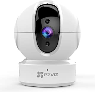 EZVIZ C6CN 1080p Indoor Pan/Tilt WiFi Security Camera, 360� Coverage, Auto Motion Tracking, Two-Way Audio, Clear 30ft Night Vision, Supports MicroSD Card up to 256GB (Sold Seperately), 2.4GHz WiFi