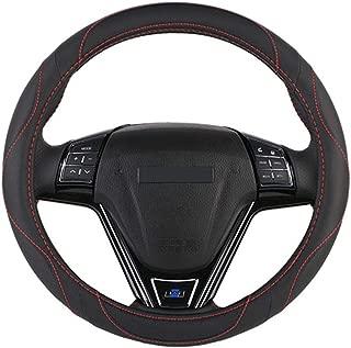XiXiHao 2018 Microfiber Leather Universal 38cm Sport Design Steering Wheel Covers Case Auto Black