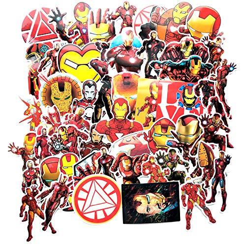 HUNSHA 55 hojas/paquete de alta tecnología ultra alta IQ Iron Man ordenador portátil equipaje graffiti cuerpo pegatinas