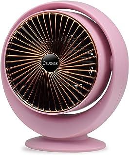 Ozvavzk Calefactor Eléctrico,Mini Calefactor Cerámico Calentador de Aire Personal con protección contra sobrecalentamiento e inclinación para Cuarto/Baño/Oficina.