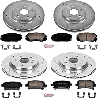 Power Stop K5515 Front & Rear Brake Kit with Drilled/Slotted Brake Rotors and Z23 Evolution Ceramic Brake Pads
