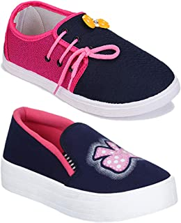 Shoefly Women Multicolour Latest Collection Sneakers Shoes- Pack of 2 (Combo-(2)-11028-994)