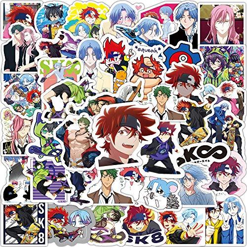 Btyert 50 Uds Anime Sk8 The Infinity Pegatinas De Graffiti De Dibujos Animados Equipaje De Viaje Guitarra Nevera Portátil DIY Chico Juguete Pegatina Impermeable
