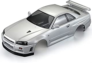 Goolsky Killerbody 48646 Nissan Skyline (R34) Finished Body Shell Frame for 1/10 Electric Touring RC Racing Car DIY (White)