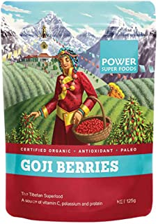 Power Superfoods Organic Goji Berries 125 g
